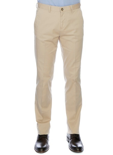 Cotton Bar Cotton Bar Erkek Kumaş Bej Klasik Pantolon Bej